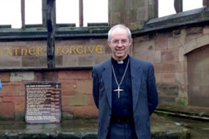 The Archbishop of Canterbury, Justin Welby, filmed his 2017 New Year Message in the ruins of the old Coventry Cathedral – destroyed in a Luftwaffe World War II bombing raid on the city involving 515 German bombers on 14 November 1940