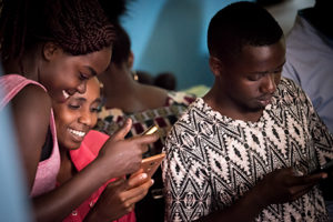 """15 June 2017, Nairobi, Kenya: Youth volunteers are tweeting away, spreading key messages in social media. Preparations are being made for the 2017 commemoration of the Day of the African Child, and the launch of a global Call to Action by the World Council of Churches Ecumenical Advocacy Alliance entitled """"Act now for children and adolescents living with HIV"""". The day is being organized by the WCC-EAA and Inerela+ Kenya, with contributions from a range of other local, national, and international partners."""