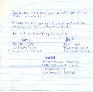 Luzira Prison Inmates Appreciation Note ii0002